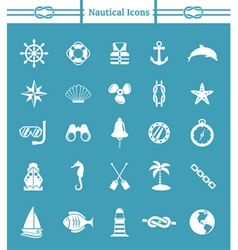 Nautical icon set vector image vector image