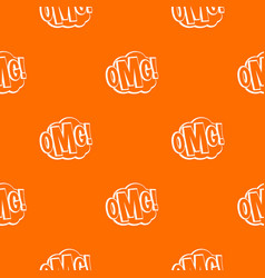 omg comic text speech bubble pattern seamless vector image vector image