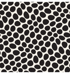 Seamless black and white distorted circles vector