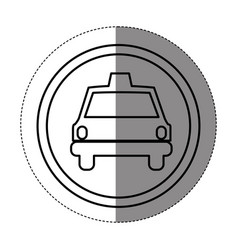 silhouette symbol taxi front car icon vector image vector image