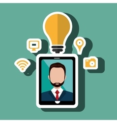 Smartphone and manisolated icon design vector image