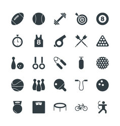 Sports Cool Icons 1 vector image