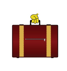 suitcase color vector image