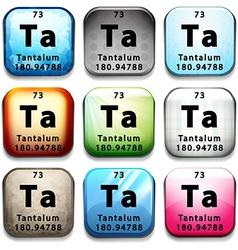 The chemical element tantalum vector