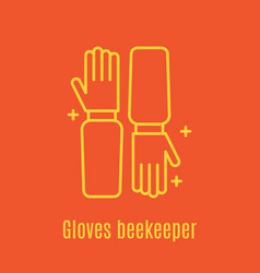 thin line icon beekeeper s vector image vector image