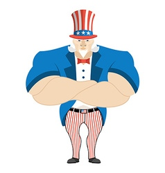Uncle Sam Serious Powerful Uncle Sam Strong Uncle vector image