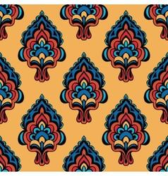 Vintage Damask Floral Oriental vector image