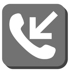 Incoming call rounded square icon vector