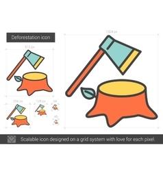 Deforestation line icon vector image
