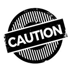 Caution stamp rubber grunge vector