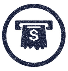 Cash machine rounded grainy icon vector
