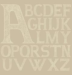 Antique oriental style alphabet vector