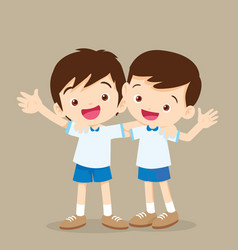 happy best friends boys vector image