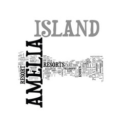 Amelia island motel text word cloud concept vector