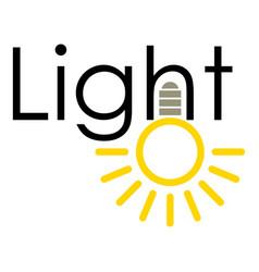 Light icon cartoon style vector