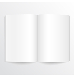 Opened book with blank pages vector
