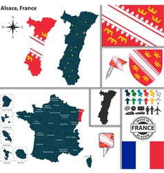 Map of alsace vector