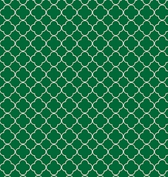 Quatrefoil green vector