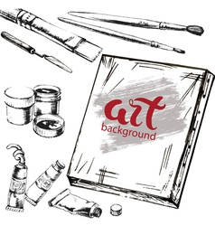 Art accessorise background vector image