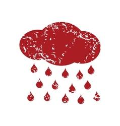 Red grunge rain logo vector image