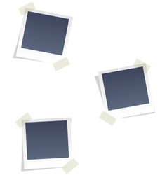 Photo frames for infographic isolated on white vector
