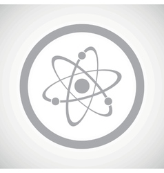 Grey atom sign icon vector