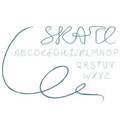 Skate alphabet vector