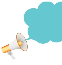 Megaphone with Sheesh Megaphone and Speech Bubble vector image