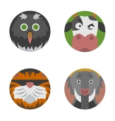 Animals emotions icons set vector image vector image