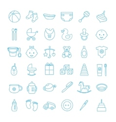 Baby set icons vector