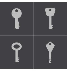 black key icons set vector image vector image