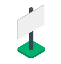 blank banner or billboard isometric isolated vector image vector image