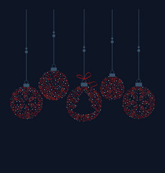 christmas balls decoration vector image vector image