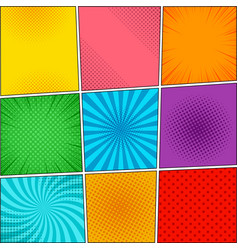 comic book colorful backgrounds collection vector image vector image