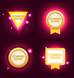 coming soon banner set vector image
