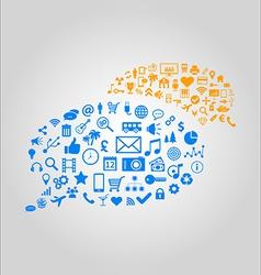 Communication concept - media vector image