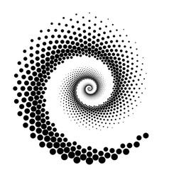 Design spiral dots element vector