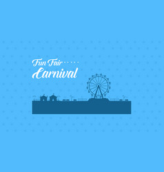 flat for carnival background vector image