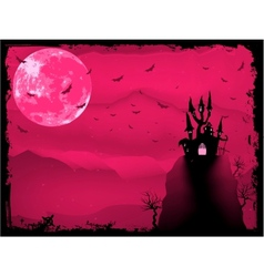 Halloween composition with horror house EPS 8 vector image