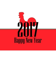 Happy new year 2017 Card with rooster and text vector image