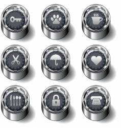 household object icons vector image vector image