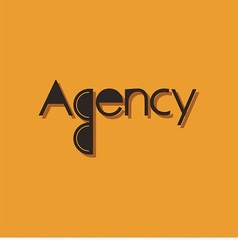 Logo word agency vector
