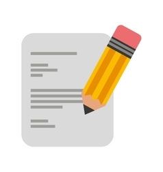 paper document with pencil icon vector image