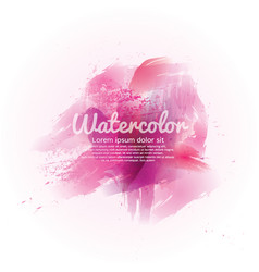 Pink watercolor abstract background vector