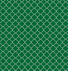 Quatrefoil green vector