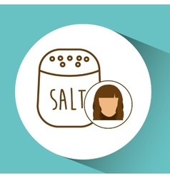 Salt shaker icon cook female avatar vector