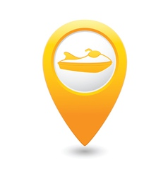 Scooter icon yellow map pointer vector