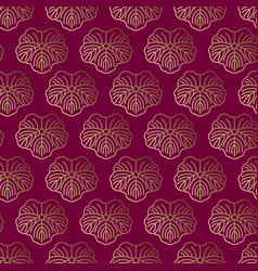 Seamless pattern japanise gold ornament vector