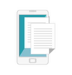 Smartphone with document file vector