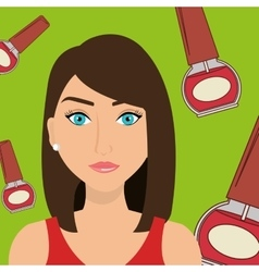 Woman cosmetic nail stylist vector